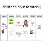 Planning Centre Loisirs Mizoen 2017