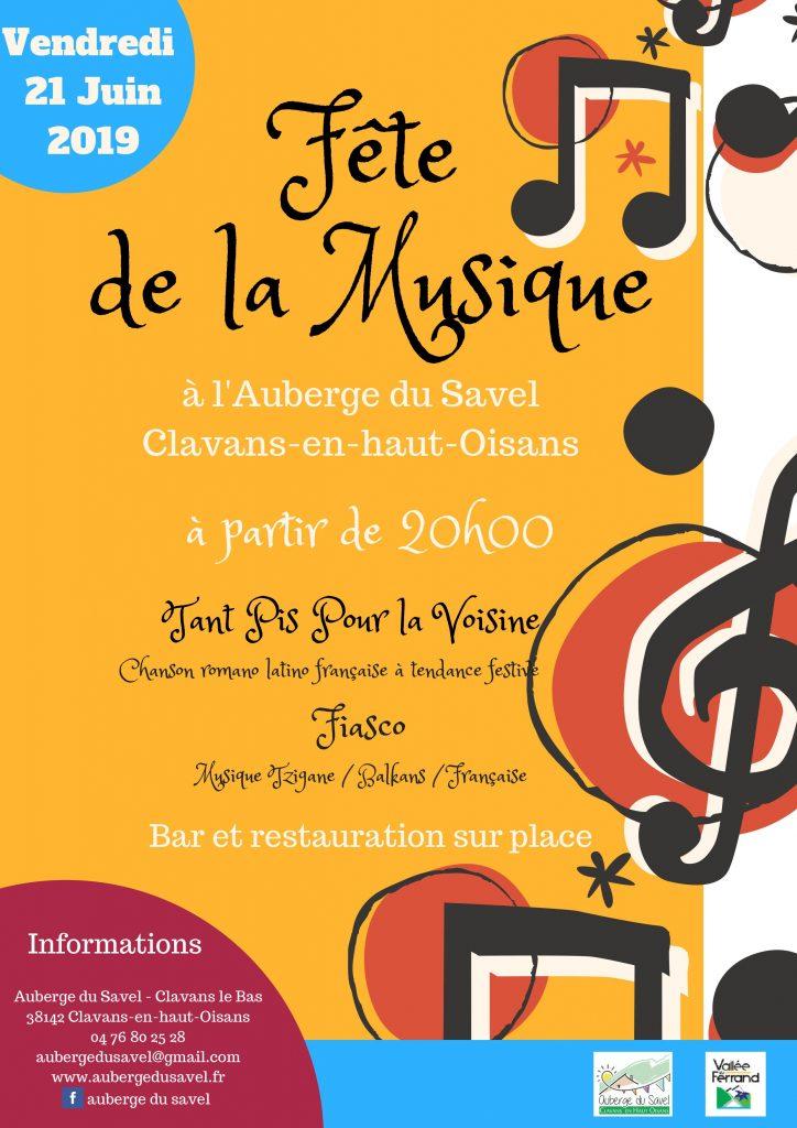 Fête de la musique Clavans en haut Oisans