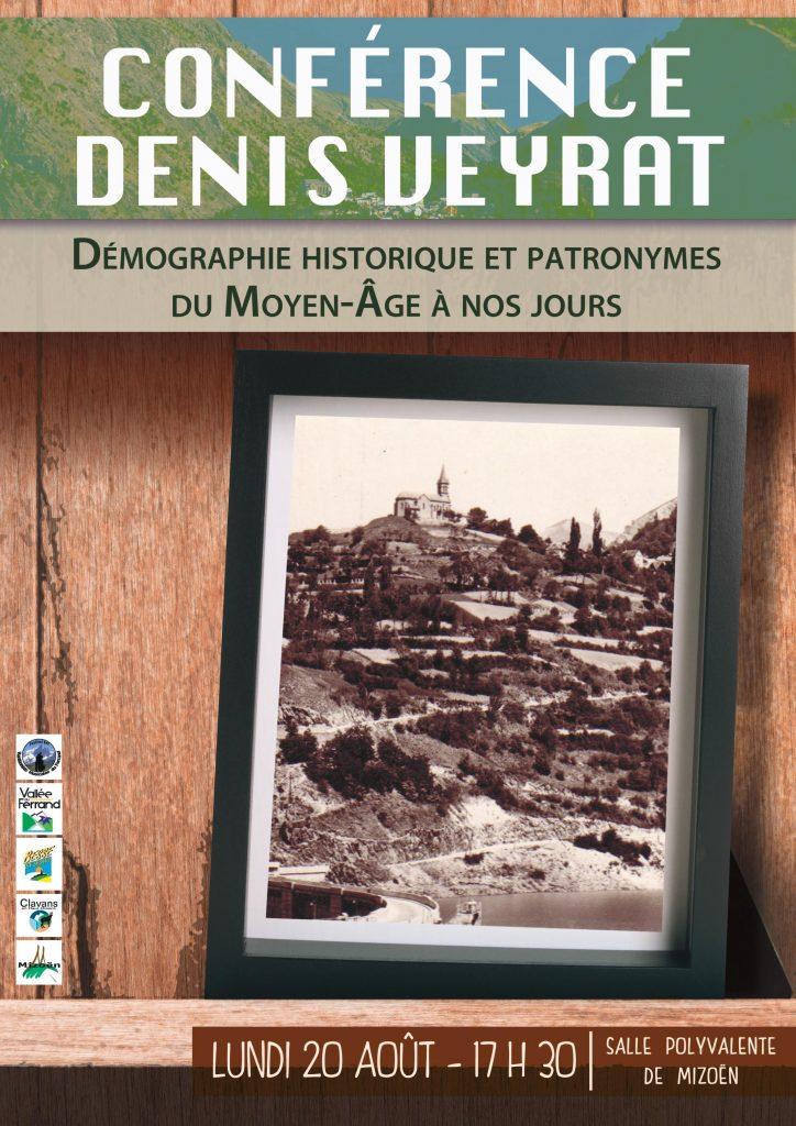 Conférence démographie historique du Moyen -âge à aujourd'hui, Mizoën , Les 2 Alpes, culture