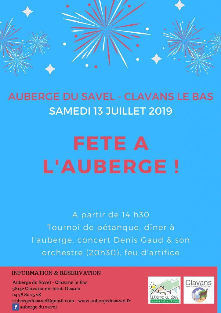 Fête national 14 juillet Clavans en Haut Oisans
