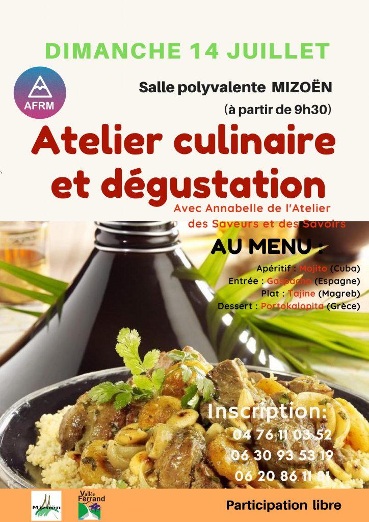 Atelier cuisine Mizoën - Repas et dégustation