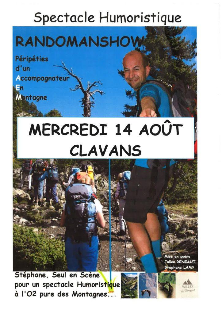 Randonnée - Spectacle - Humoristique-Isère-Oisans-Clavans le bas