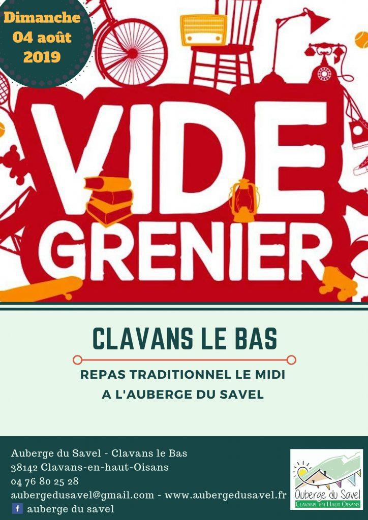 Vide grenier Clavans en Haut Oisans dimanche 4 août